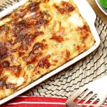 Alfredo Chicken Lasagna with spinach