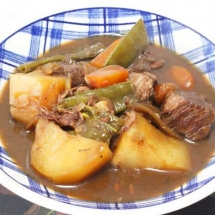 Beef in Beer Stew, Slow Cooked