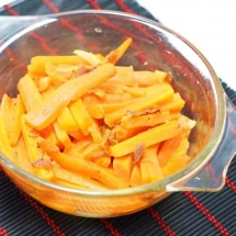 Baked Carrots with garlic