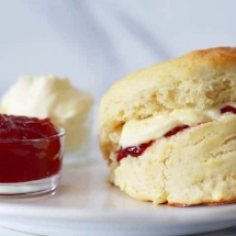 English Scones and Clotted Cream