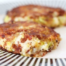 Bubble and Squeak Cakes with Sprouts