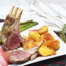 Rack of Lamb with a Port Sauce
