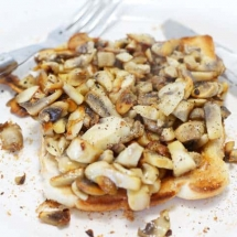 Sauteed Mushrooms on toast
