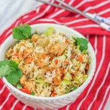 Piri Piri Rice Recipe - with marinated spicy chicken and vegetables