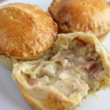 Mini Chicken Pot Pies with Pie Crust