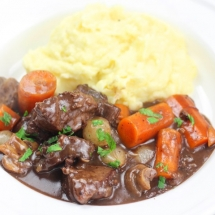 Beef Stew (Dutch Oven) - Beef Bourguignon