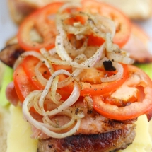 BLT Sandwich (with cheese, onion and sausage!!)