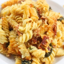Chorizo Pasta Bake (with a Gruyère and Spinach Sauce)
