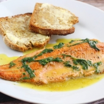 Pan Fried Trout with Lemon Butter Sauce