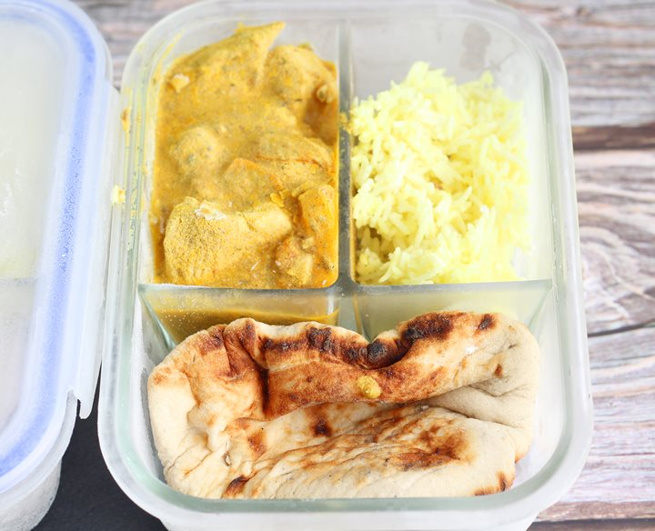 meal prepped curry