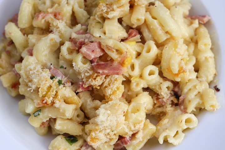leek and ham pasta