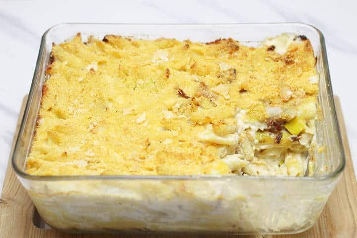 leek and pasta bake