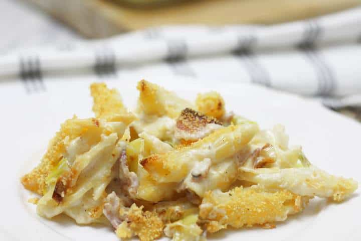 bacon and leek pasta bake recipe