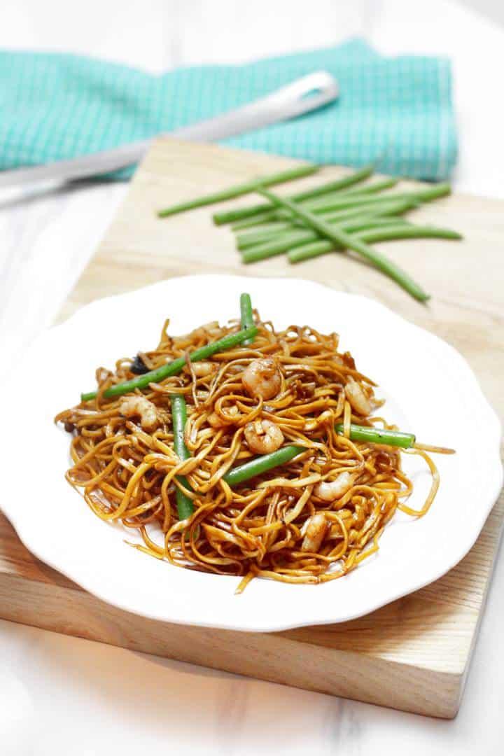 prawn stir fry with noodles