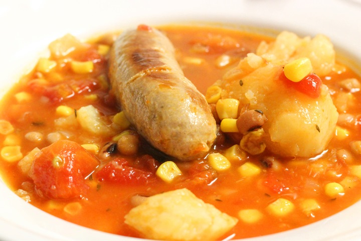 sausage casserole in oven