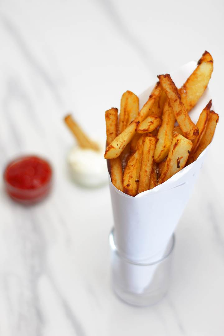 Belgian Frites with ketchup and mayo