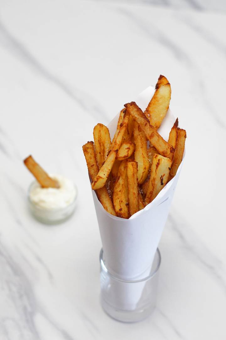 Belgian french fries with mayonnaise