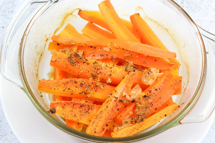 steamed carrots in oven