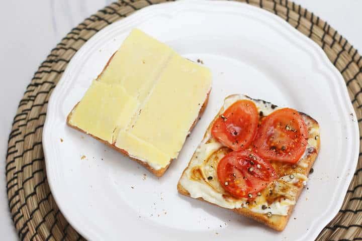sandwich ingredients with Marmite