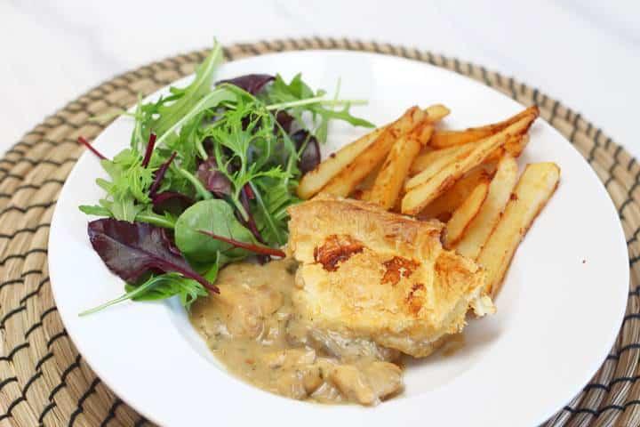chicken and mushroom pot pie recipe