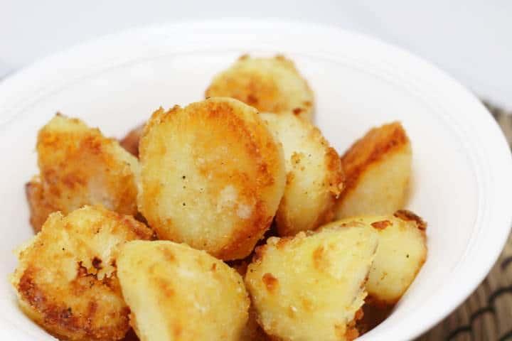 crispy baked red potatoes