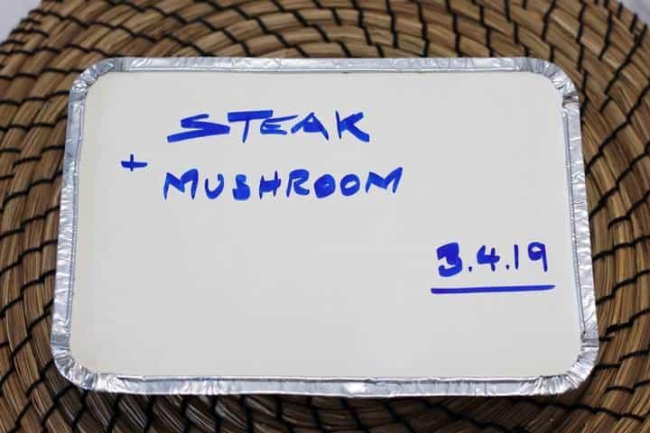 steak and mushrooms pie frozen