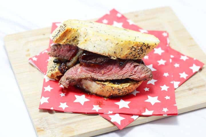 flank steak sandwich