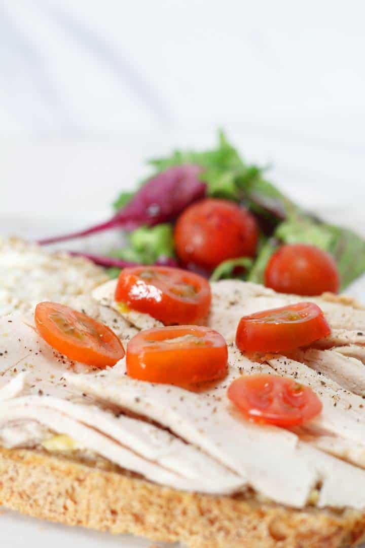 cold turkey and tomato sandwich