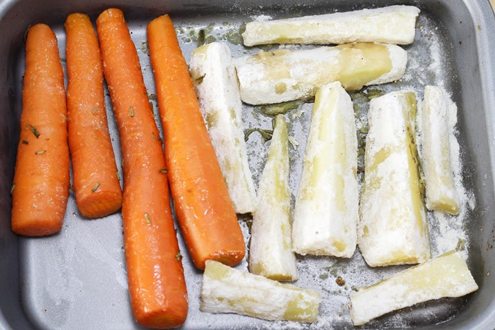 roast carrots with parsnips