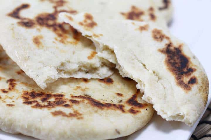 naan bread pan cooked