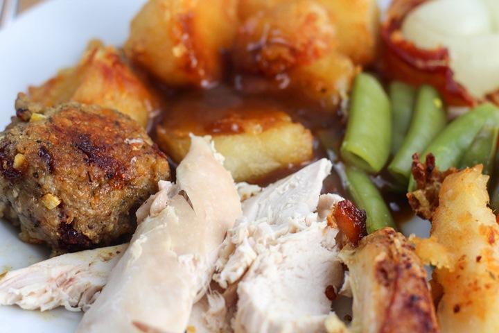 roast chicken lunch