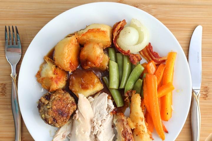 roast chicken dinner