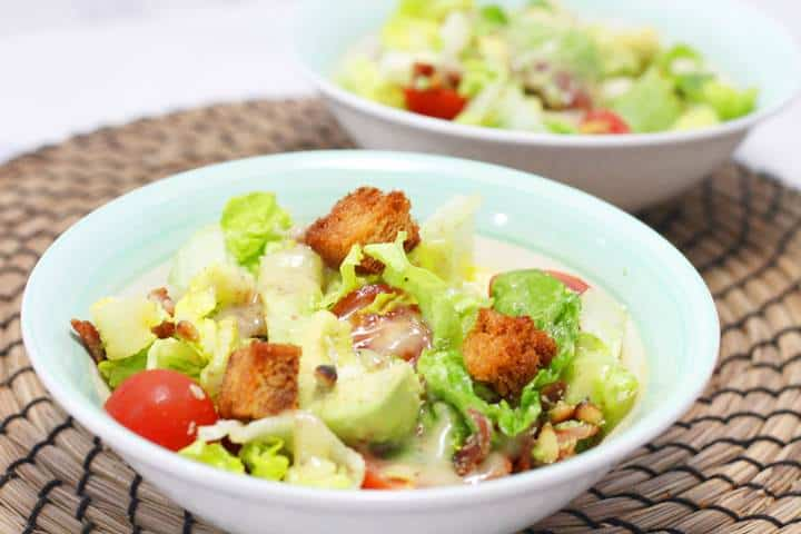 bacon lettuce tomato avocado salad