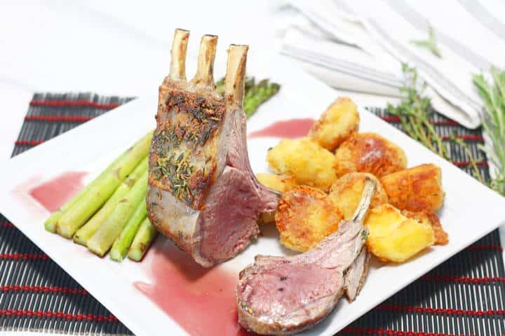 fried rack of lamb