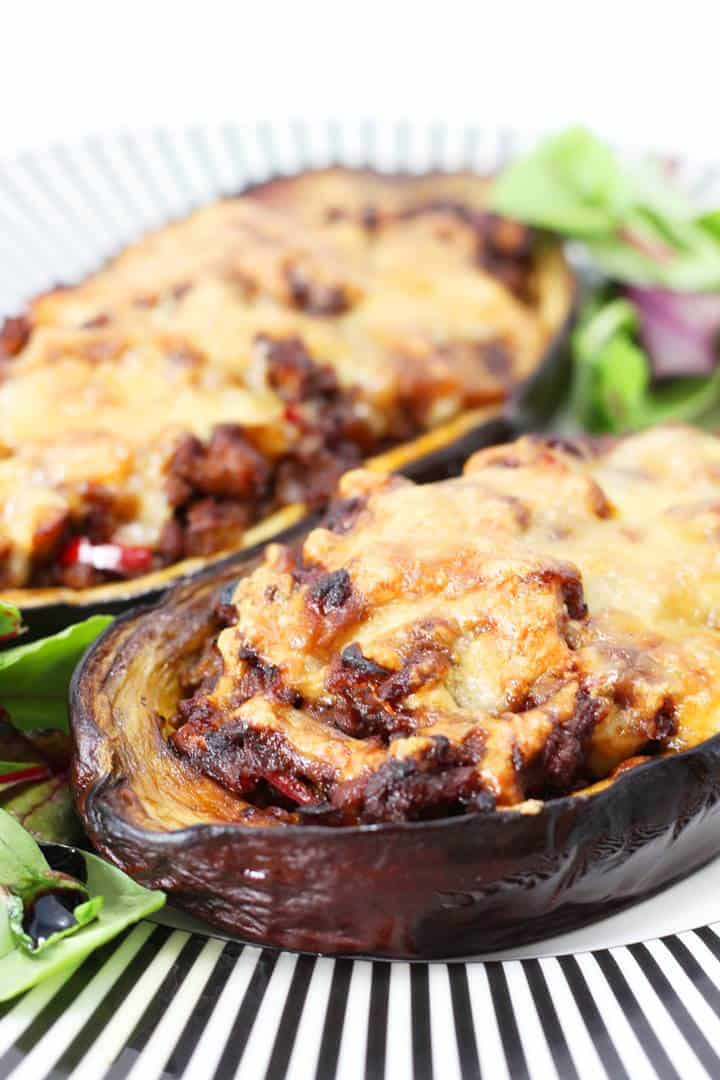 stuffed eggplant ground beef