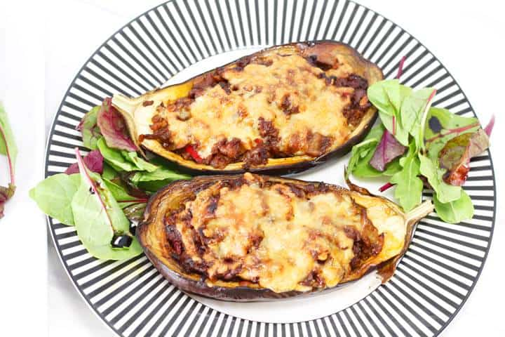 meat stuffed eggplant recipe