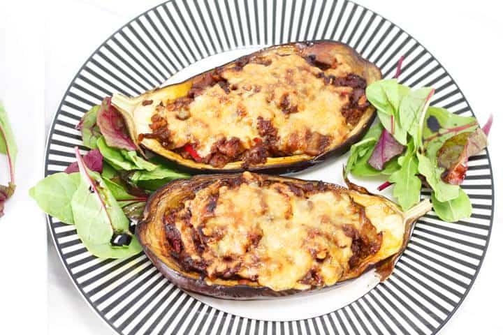 meat stuffed eggplant recipe