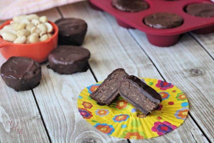 Dark Chocolate Peanut Butter Fat Bombs