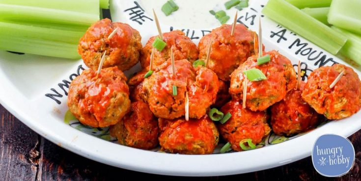 Buffalo Chicken Meatballs dairy free party food