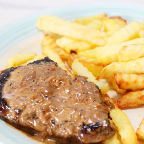 steak in black pepper sauce