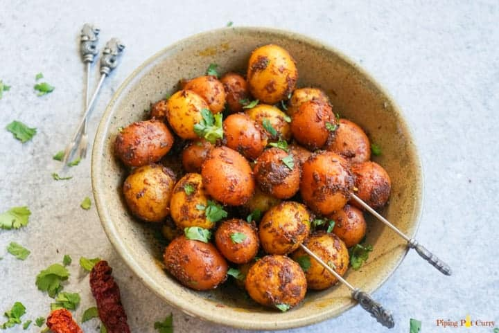 Gluten and dairy free spicy Bombay potatoes