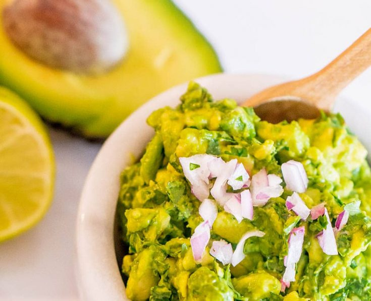 Easy guacamole party food recipe