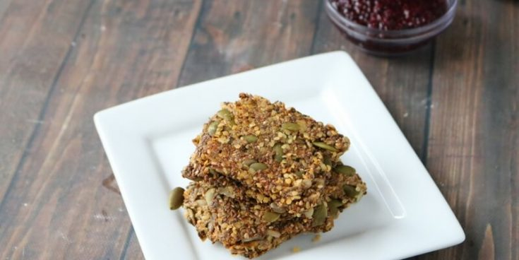 Dairy and gluten free seed crackers