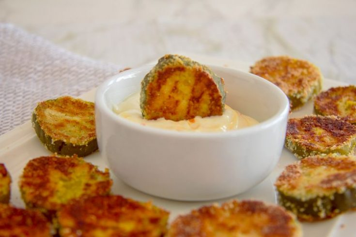 Keto Baked Pickle Chips