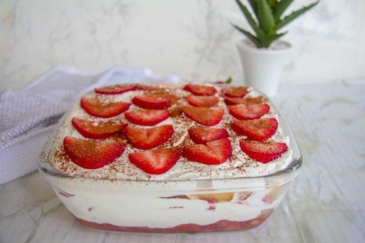 Keto Strawberry Tiramisu