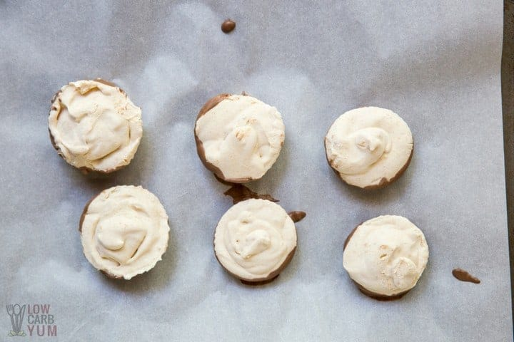 Peanut Butter Whips Frozen Fat Bombs