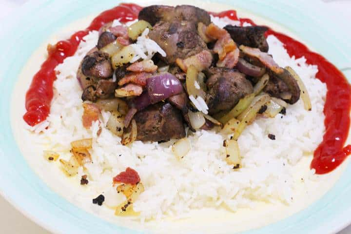 Pan Fried Chicken livers