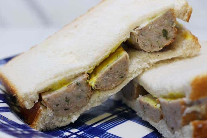 cold sausage sandwich