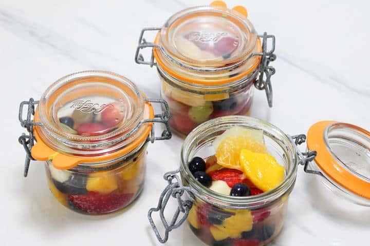 fruit cocktail pots