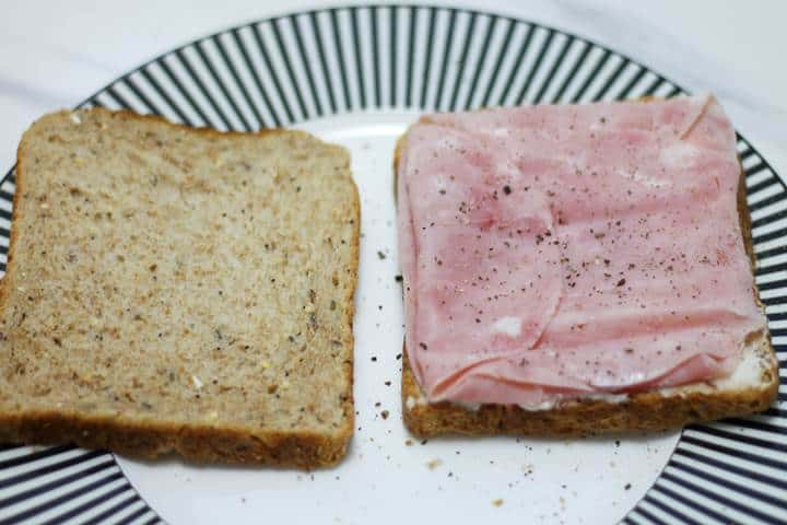 ham cheese mayo sandwich